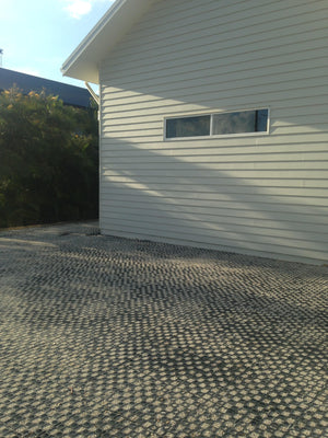 Finished laying of the gravel cell