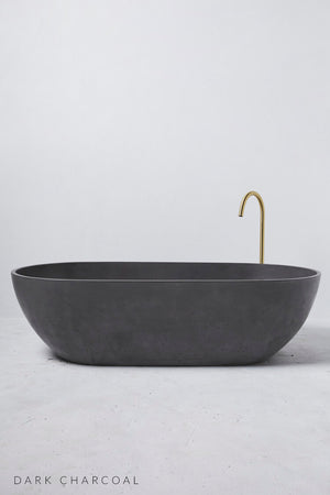 Valencia bath dark charcoal