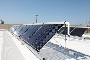 Finished apricus solar installation commercial