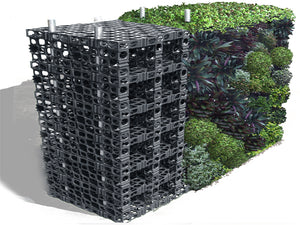 Gro wall pro diagram of the finished vertical garden