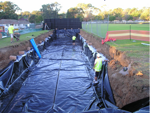 Detention tank installation process