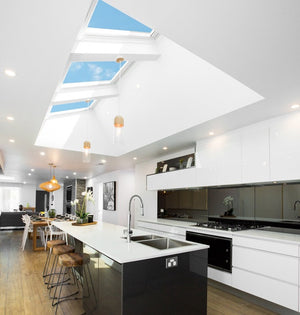 Velux Electric skylight for pitched roofs in kitchen