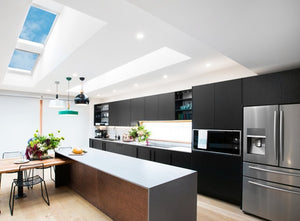 Pair of Velux skylights in Kitchen
