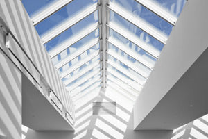 Rows of Velux electrical skylights