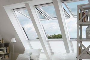 3 Velux dual action roof windows