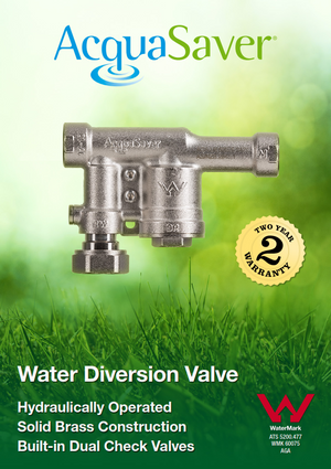 20mm AcquaSaver valve features