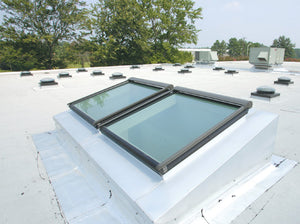 Fixed Velux skylights roof view post installation