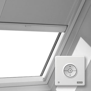 Solar velux skylight blind with remote