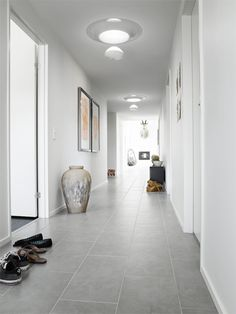 Hallway with multiple sun tunnels installed