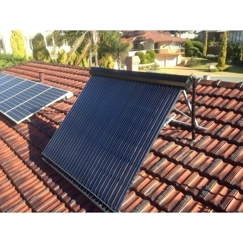 Apricus solar hot water system tilt frame 45 degrees