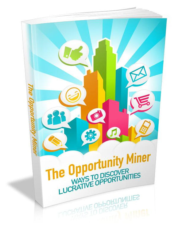 The Opportunity Miner Ebook PDF - Bysah