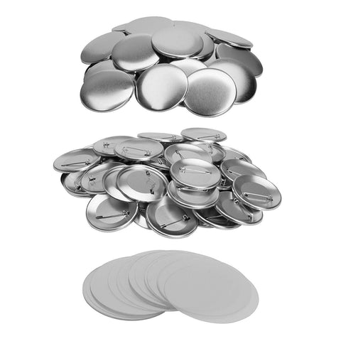 100 Badge Materials ( Metal Pin Front / Back & Mylar ) - 100 Pieces