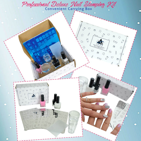 NAIL ART STAMPING KIT ALL-IN-ONE DIY