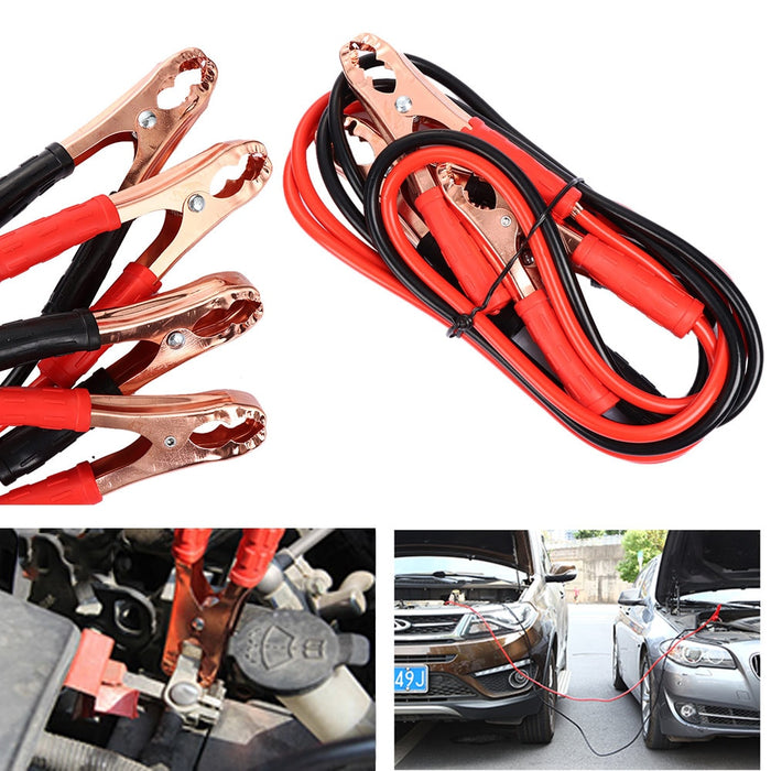 Heavy Duty 500 Amp Battery Jump Cable - Emergency Car Battery Jumper Booster Line Copper Wire