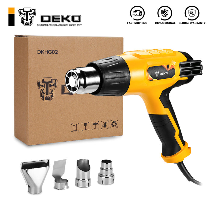 220V Heat Gun 2000W Variable 3 Temperatures Advanced Electric Hot Air Gun with Four Nozzle Attachments Power Tool