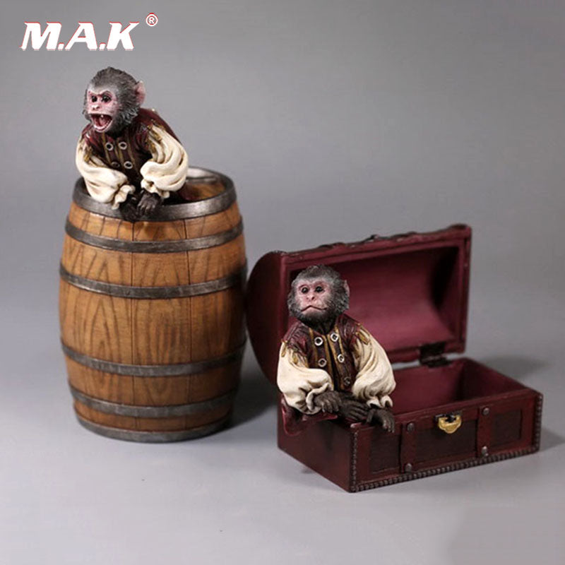 1/6 Scale Pirate Monkey Wine Barrel Treasure Box House Model Toy for 12 inches Action Figure Accessories Collections