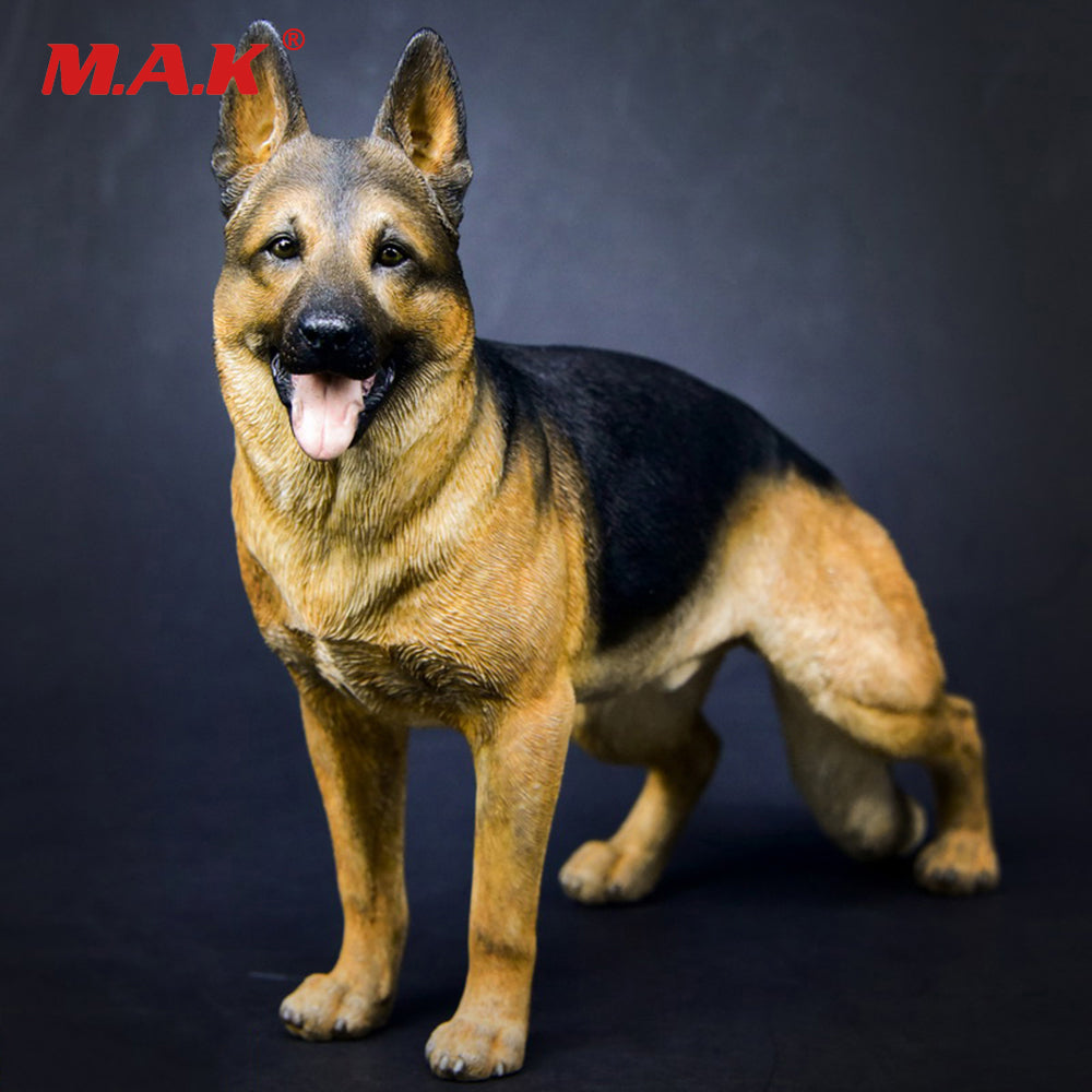 1/6 Working Dog Model German Shepherd With Collar Anime Statue for 12 inches Action Figure Accessories Collections