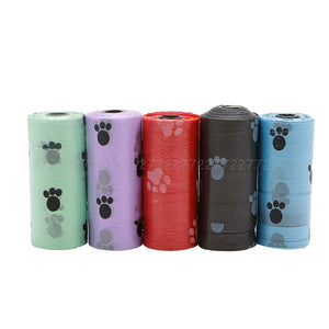 10 Roll/150PCS Pet Dog Waste Poop Bag Poo Printing Clean-up Degradable JUL24 dropship