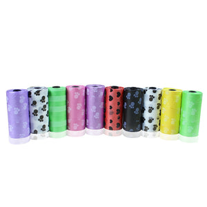 10 Roll Degradable Pet Dog Waste Poop Bag With Printing Doggy Bag for Cat Dog C2