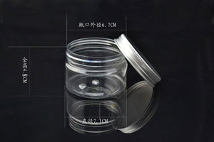 100ml PET plastic wide mouth bottle 100 grams cream jar with aluminum cover plastic refill jar