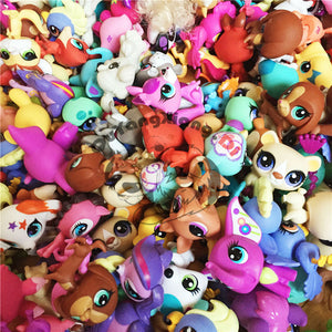 10pcs/20pcs/30pcs/lot Action Figures Pet Shop Small Animal doll cat dog action Figure cute model toy for kid's Christmas gift