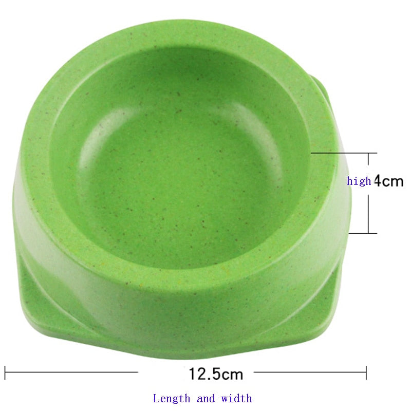 12.5cmx4cm size Bamboo Fiber Pets Dogs Bowls Feeders Feeding Food Water Bowl For Small Medium Large Dog Pet Cat Green Safe