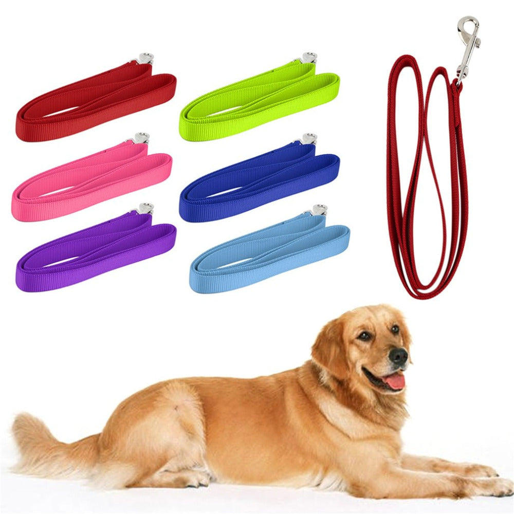 120*2cm Durable Reusable Nylon Lead Leash Recall Pet Dog Puppy Long Training Obedience Leading Leashes Daily Walking Supply