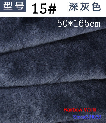 15# Deep gray Height  Minky fleece plush PV velvet velboa fabric for DIY sewing Stuff toy pet home sleepcoat pillow(50*165cm)