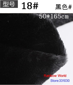 18# black Height  8mm Minky fleece plush PV velvet velboa fabric for DIY sewing Stuff toy pet home sleepcoat pillow(50*165cm)