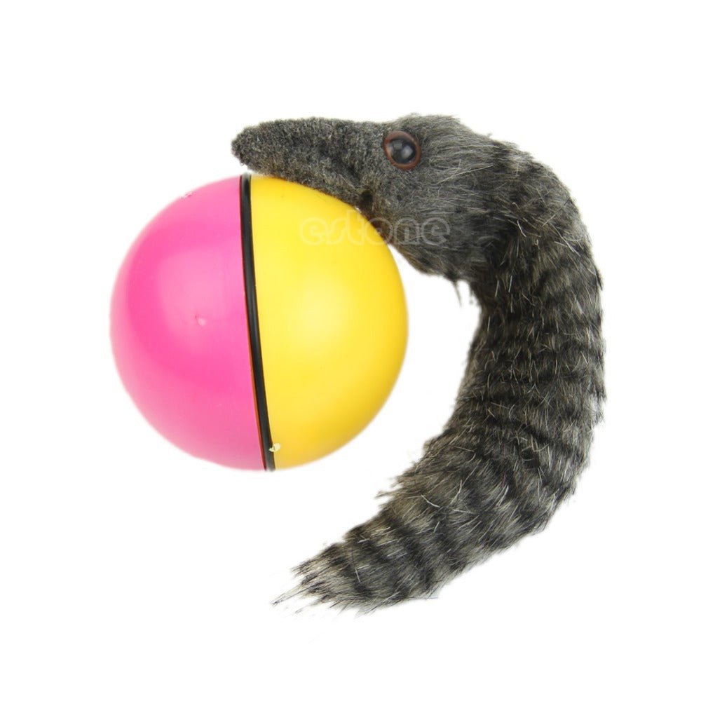 1PC Funy Rolling Motor Ball Pet Cat Dog Kids Chaser Jumping Moving Toy