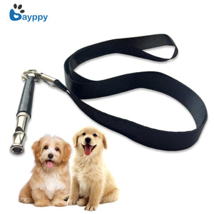 1Pc Pet Dog Training Obedience Black Whistle Ultrasonic Flute Dog Whistle Adjustable Keychain for Pet Puppy Dog Animal Training