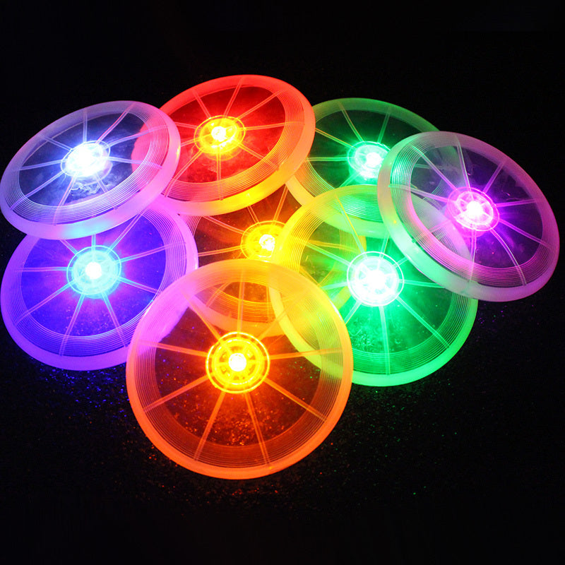 1pc Multifunction Pet Dog Luminous Throwing Toys Pets Training Exercising Dogs Puppy Flying Disk Funny Toy Random Color