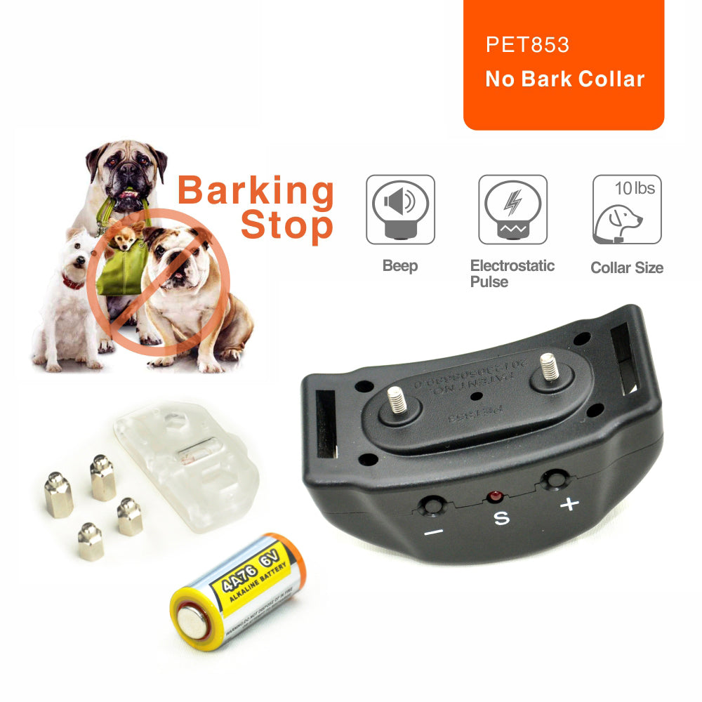 2015 Newe Automatic Anti Bark Collar Sound & Shock & Electric No Remote Needed Bark Control Dog Training Collar No Bark Collar