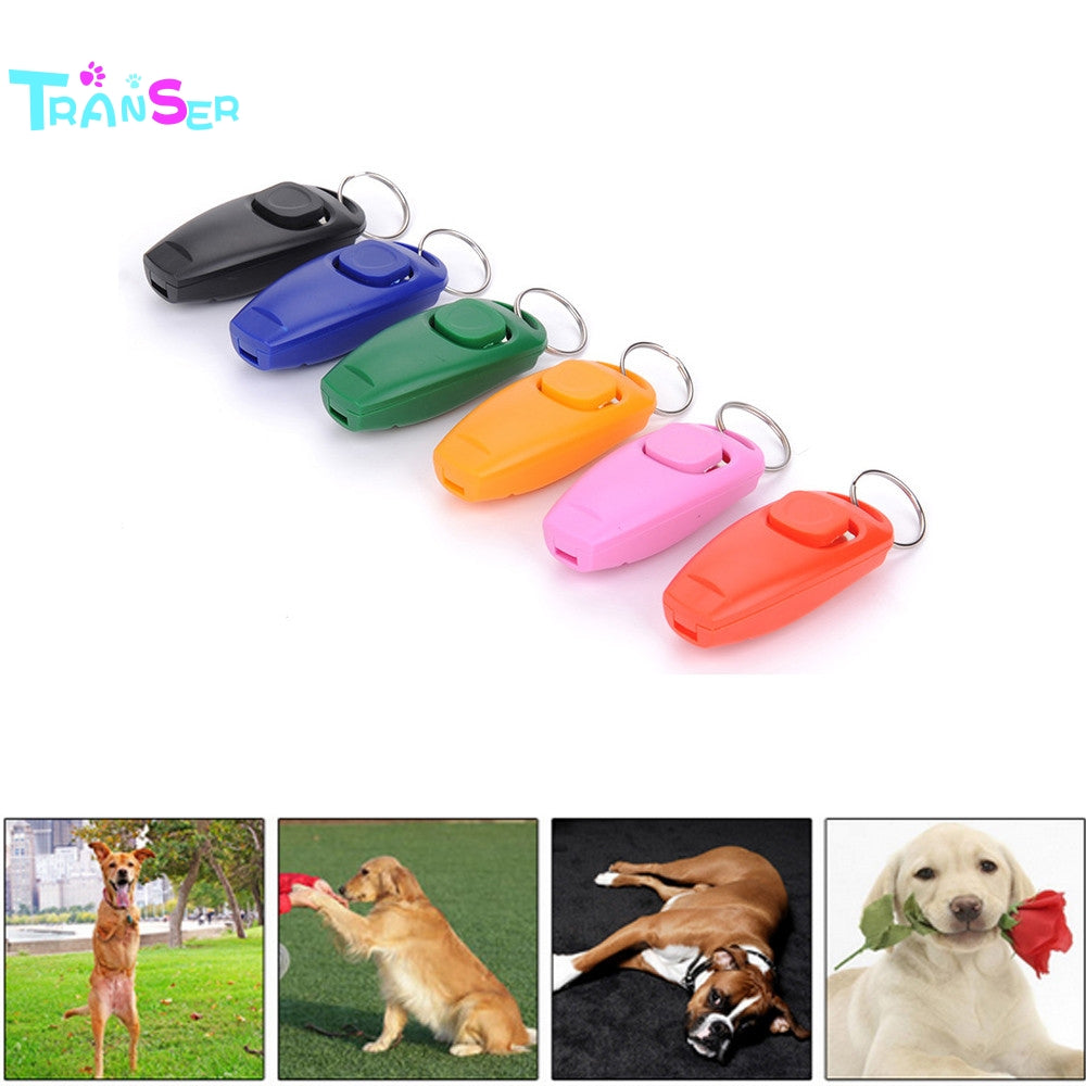 2017  Creative Hot! 1 Pc Dog Pet Click Clicker Training Obedience Agility Training Aid Whistle New drop shipping nv2 m23