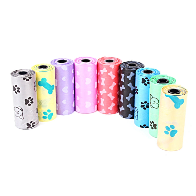 2018 Color Random Garbage Bag Home Wider 1Roll Degradable Pet Dog Waste Poop Bag With Printing Doggy Bag