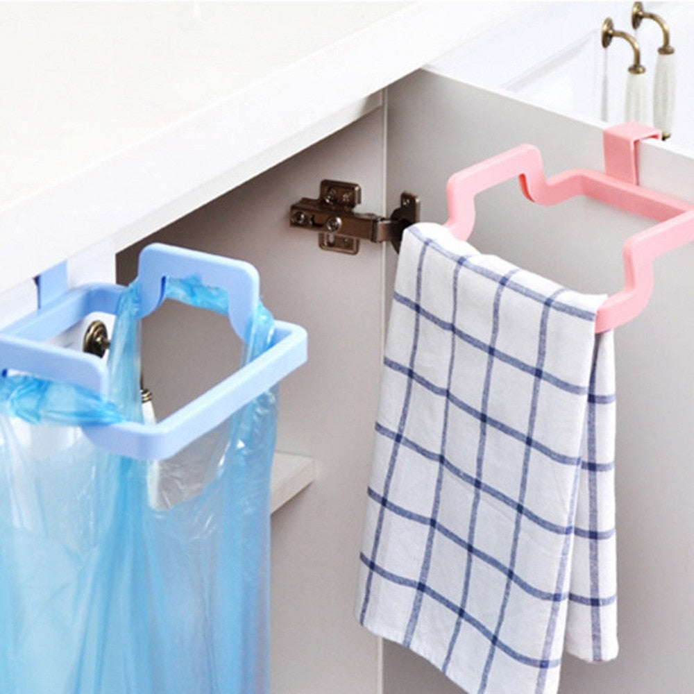 2018 Eco-Friendly Trash Rack Storage Garbage Bag Holder Cupboard Drawer Door Back Hanging Kitchen Cabinet Waste Bin 18.3x14x4cm