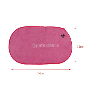 2Pcs Paw Print Dog Cat Bed Mat Washable - Soft Kennels Crate Pad - Anti-Slip Matress for Small Medium Large Pet ( Random Color )