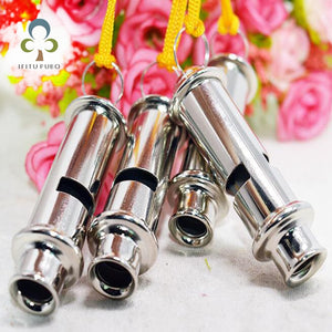 2pcs Outdoor Dog Spo Training Metal Referee Whistle School Soccer Football New Emergency Security Whistles GYH