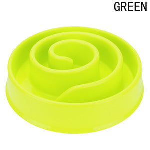 3 Colors Anti Choke Pet Dog Feeding Bowls Plastic Snail Shape Slow down Eating Food Prevent Obesity Healthy Diet Dog Accessories