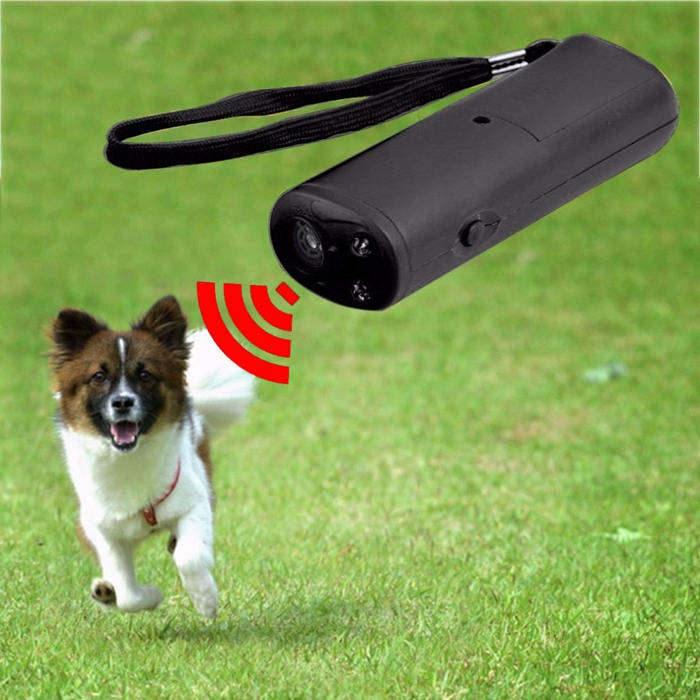 3 in 1 Anti Barking Stop Bark Dog Training LED Ultrasonic Anti Bark Barking Dog Training Repeller Control Trainer Device Hot New