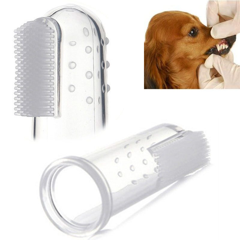 3 pcs Soft finger brush for pet dog toothbrush addition bad breath tartar teeth care dog pet cat cleaning supplies
