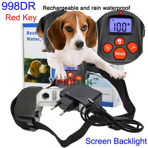 300M Remote Dog Training Bark Rechargeable and Waterproof Collar Color Button Optional 20pcs/lot