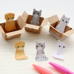 3D Kawaii Cat Dog Box Stickers Cute Cartoon Korean Stationery Sticky Notes Office School Supplies Po It Memo Pad Scrapbooking