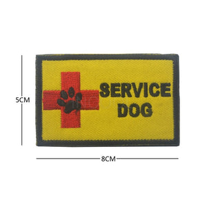 3D SERVICE DOG Embroidery Patch Rectangle Morale Patch Tactical Emblem Hook & Loop Fastener Patches Appliques Embroidered Badges