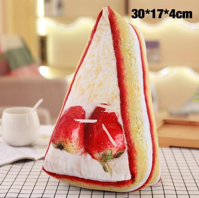 3D Simulation Food Shape Plush Pillow Creative Cake Coffee Beer Plush Toys Stuffed Sofa Cushion Home Decor Funny Gifts for Kids