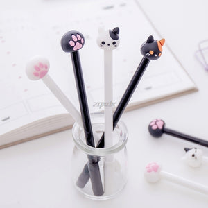 4 pcs/Lot Kawaii cat gel pen Lovely claw black ink pens for writing Stationery Office School supplies Canetas escolar Z11