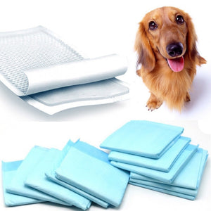 44*33cm 20PCS/set Super Absorbent Pet Diaper Dog Training Pee Pads Healthy Clean Wet Mat Pet Supplies/Color Random