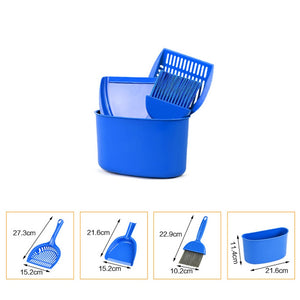 4psc Pet Cleaning Supplies Dog Cat Kitty litter scoop or Small Animal Cleaning Brush Litter box shovel Brush Pet Clean Tool Set