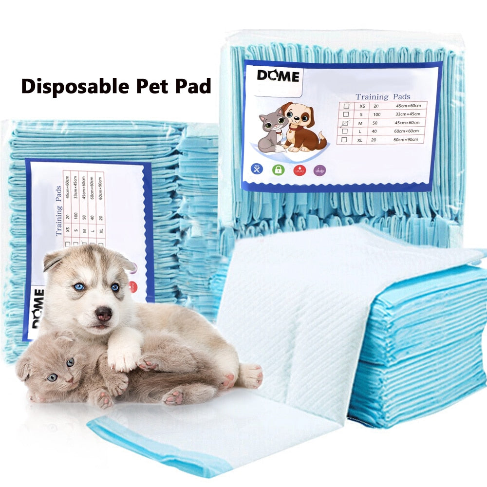 50 pcs Dog Mat Urine Pad Disposable Diaper for Pet Dog Training and Puppy Pads pee Necessary Diapers Clean Regular Antibacterial