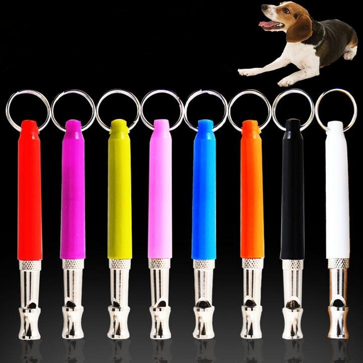 50PCS/LOT Wholesale Pet Whistle Dog Training Obedience Dog Whistle UltraSonic Supersonic Sound Pitch Black Quiet Discipline 3138